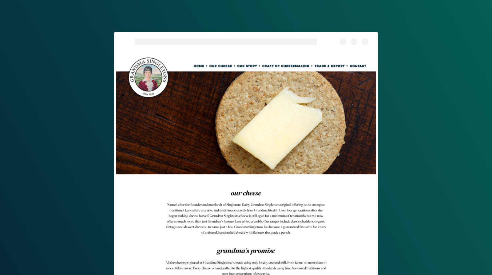 The new our cheese page