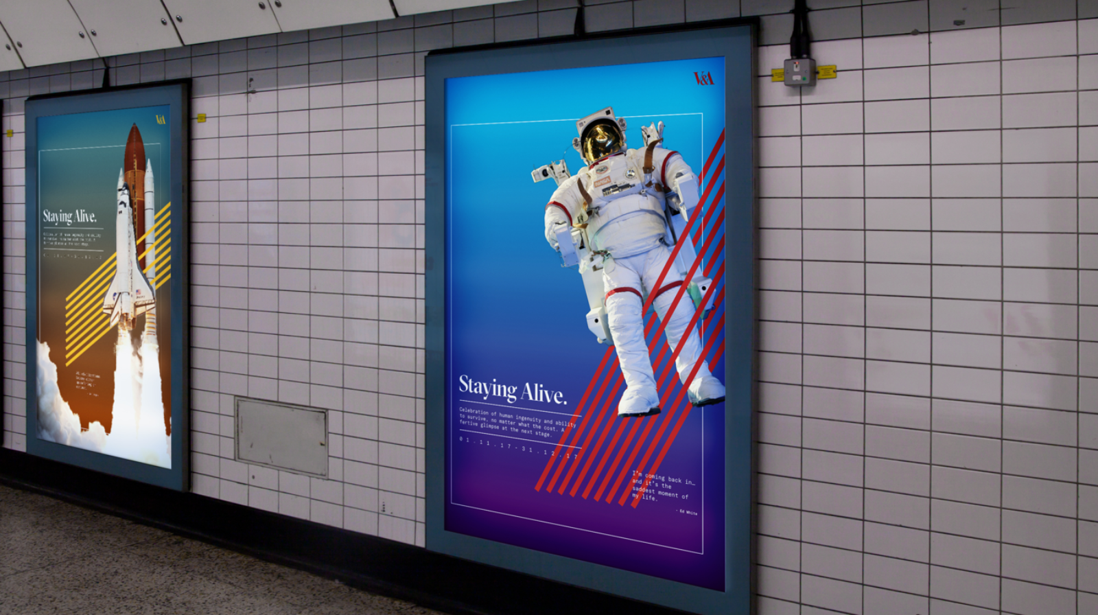 Static tube posters - 2 side by side.